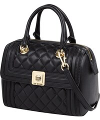 Love Moschino Bowling Bag in Leder-Optik mit Metall-Logo