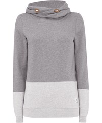 Iriedaily Sweatshirt mit Tube Collar in Two-Tone-Machart