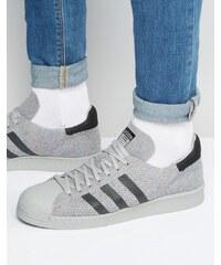 adidas Originals Adidas Orignals - Superstar 80's Primeknit - Baskets - Gris S75843 - Gris
