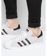 adidas Originals Adidas Orignals - Superstar Primeknit S75845 - Baskets style 80's - Blanc - Blanc
