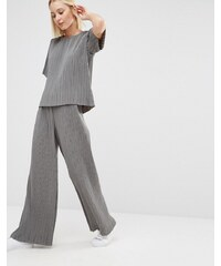 ADPT - Plissierte Hose mit weitem Beinschnitt, Kombiteil - Grau