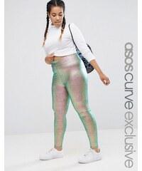 ASOS CURVE - NIGHT - Leggings mit Metallic-Folienoptik - Mehrfarbig