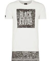 Black Kaviar Longshirt mit Kontrastsaum im Layering-Look