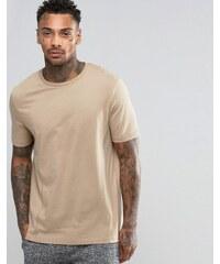 ASOS Loungewear - T-shirt léger à empiècements - Beige - Beige