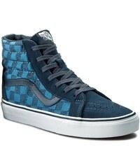 Sneakers VANS - Sk8-Hi Reissue VN0005OKJPK (Stitch Checkers) Blue Mi