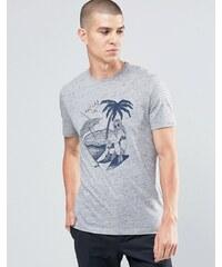 Celio - T-shirt ras du cou à imprimé graphique - Gris
