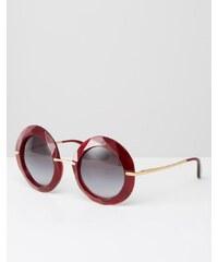 Dolce & Gabbana Dolce & Gabanna - Lunettes de soleil rondes oversize - Rouge - Rouge