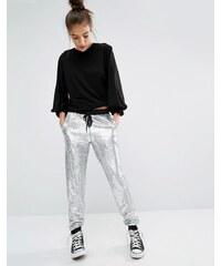 Glamorous - Pantalon de jogging orné de sequins holographiques - Bleu