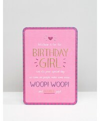 Happy Jackson - Carte d'anniversaire pour fille « Let's hear it for the Birthday Girl - Multi