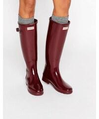 Hunter - Bottes de pluie authentiques de style raffiné - Rouge