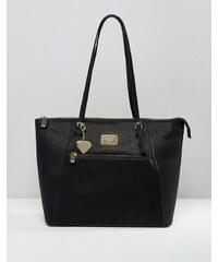 Marc B - Angel East-West - Klassische Shopper-Tasche mit Reißverschluss - Schwarz