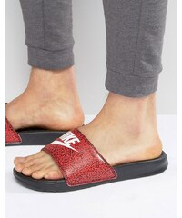 Nike - Benassi JDI - Mules imprimées - Rouge 631261-603 - Rouge