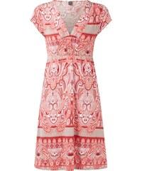 s.Oliver Premium Kleid mit V-Ausschnitt und Allover-Muster