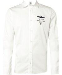 Aeronautica Militare Slim Fit Freizeithemd mit Logo-Stickerei