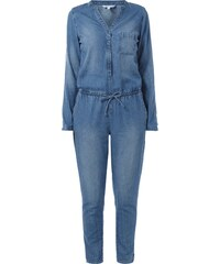 REVIEW Jumpsuit aus Denim im Stone Washed-Look