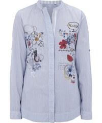 Desigual Bluse mit Prints und Zierperlen