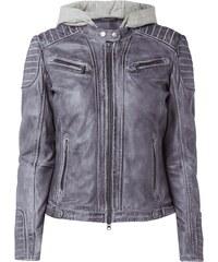 Jilani Biker-Jacke aus echtem Leder mit Kapuze
