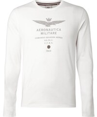 Aeronautica Militare T-Shirt mit gummiertem Logo-Print