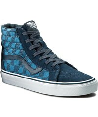 Sneakersy VANS - Sk8-Hi Reissue VN0005OKJPK (Stitch Checkers) Blue Mi