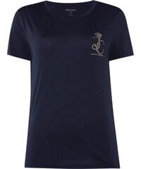 Juicy Couture T-Shirt mit Logo-Print in Goldoptik