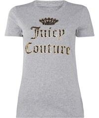 Juicy Couture T-Shirt mit großem Logo-Print in Goldoptik