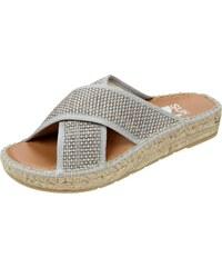 SunZ Sandalen mit gekreuzten Riemen in Flechtoptik
