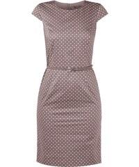 Esprit Collection Kleid mit Polka Dots und Taillengürtel