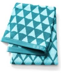 Lot 2 serviettes invité 30x50 cm MINA aqua - Collection Esprit
