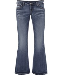 Silver Jeans Double Stone Washed Flared Cut Jeans