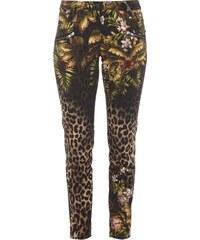 Raffaello Rossi 5-Pocket-Jeans mit Leoparden- und Dschungelmuster