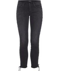 Cambio Slim Fit Jeans mit seitlichen Zierschnürungen