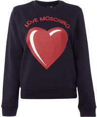 Love Moschino Sweatshirt mit Logo-Print