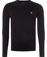 Armani Jeans Pullover mit Einsatz aus Rippenstrick