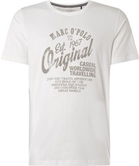Marc O´Polo Pyjama-Shirt mit Logo-Print und Message