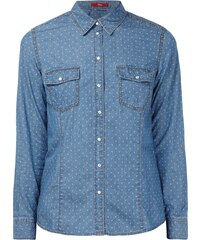 s.Oliver Jeansbluse mit Allover-Muster
