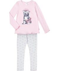 SANETTA Pyjama mit Katzen-Print