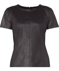s.Oliver Premium Blusenshirt in schimmernder Lederoptik