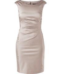 Mariposa Kleid aus Satin mit gelegten Falten