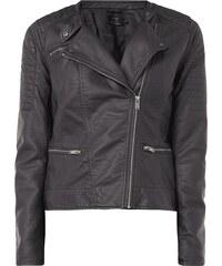 Only Biker-Jacke mit geknöpftem Reverskragen