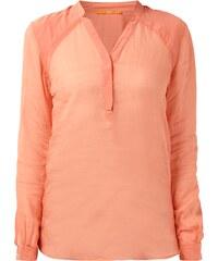 Boss Orange Blusenshirt aus Ramie mit Druckknopfleiste