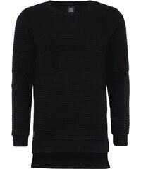 Black Kaviar Sweatshirt mit gesteppten Einsätzen