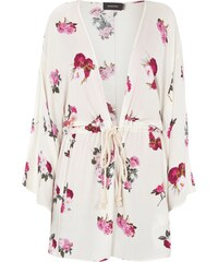 Minkpink Kimono mit floralem Muster und Kordelzug