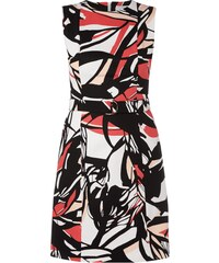 Boss Kleid mit abstraktem Muster und Taillengürtel