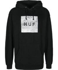 Huf Concrete Box Logo Fleece Hoodie black
