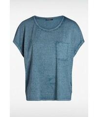 T-shirt femme loose bas liquette Bleu Polyester - Femme Taille L - Bonobo