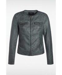 Veste femme similicuir vintage Vert Synthetique - Femme Taille L - Bonobo