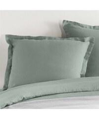 C Design Home Taie d'oreiller en lin - vert