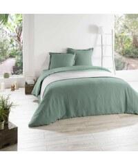 C Design Home Drap housse en lin - vert
