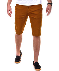 OMBRE Slim Fit-Chino-Shorts Unifarben - Camel - S