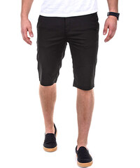 OMBRE Slim Fit-Chino-Shorts Unifarben - Schwarz - S